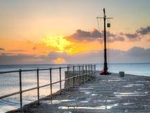 Ηλιοβασίλεμα Porthleven στοκ φωτογραφία με δικαίωμα ελεύθερης χρήσης