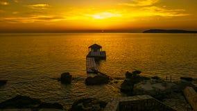 Ηλιοβασίλεμα Pula στοκ εικόνες με δικαίωμα ελεύθερης χρήσης