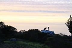 Ηλιοβασίλεμα rv Στοκ φωτογραφίες με δικαίωμα ελεύθερης χρήσης