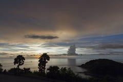 Ηλιοβασίλεμα Sihouette στο ακρωτήριο Phromthep Στοκ εικόνα με δικαίωμα ελεύθερης χρήσης