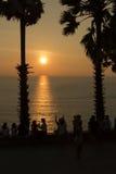 Ηλιοβασίλεμα Sihouette Στοκ φωτογραφία με δικαίωμα ελεύθερης χρήσης