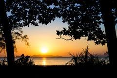 Ηλιοβασίλεμα silhouette1 Στοκ Φωτογραφίες