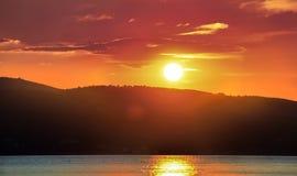 Ηλιοβασίλεμα Skyathos Στοκ Φωτογραφίες