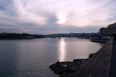 ηλιοβασίλεμα sliema της Μάλτα& Στοκ Εικόνες