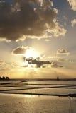 Ηλιοβασίλεμα στην αλυκή BRI στοκ φωτογραφία με δικαίωμα ελεύθερης χρήσης