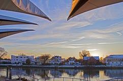 Ηλιοβασίλεμα Staines Στοκ εικόνα με δικαίωμα ελεύθερης χρήσης