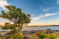 Ηλιοβασίλεμα Stenungsund στοκ εικόνες