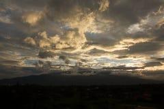 Ηλιοβασίλεμα Suthep Chiang Mai Doi Στοκ Φωτογραφίες