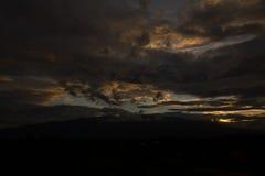 Ηλιοβασίλεμα Suthep Chiang Mai Doi Στοκ εικόνα με δικαίωμα ελεύθερης χρήσης