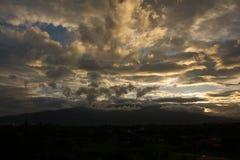 Ηλιοβασίλεμα Suthep Chiang Mai Doi Στοκ Εικόνες