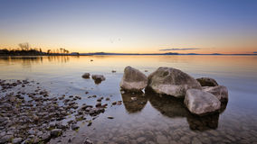 Ηλιοβασίλεμα Taupo λιμνών Στοκ φωτογραφία με δικαίωμα ελεύθερης χρήσης