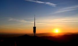Ηλιοβασίλεμα-Tibidabo Στοκ Εικόνες