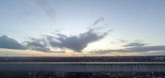 Ηλιοβασίλεμα Timelapse, Λονδίνο, UK απόθεμα βίντεο