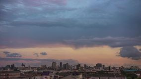Ηλιοβασίλεμα Timelapse πόλεων του Ντάρμπαν απόθεμα βίντεο