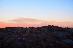 Ηλιοβασίλεμα Valle de Λα Luna Στοκ φωτογραφία με δικαίωμα ελεύθερης χρήσης