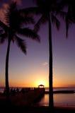 Ηλιοβασίλεμα Waikiki στοκ εικόνα με δικαίωμα ελεύθερης χρήσης