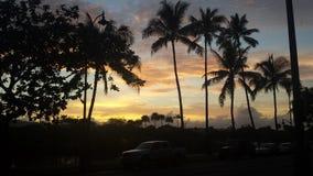 Ηλιοβασίλεμα Waikiki Στοκ Εικόνα