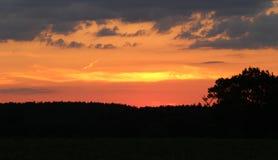 Ηλιοβασίλεμα Warkwickshire Στοκ Εικόνα