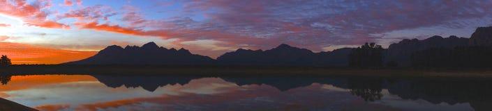 Ηλιοβασίλεμα Wedderwill Στοκ φωτογραφία με δικαίωμα ελεύθερης χρήσης
