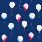 4η Ιουλίου Σχέδιο Watercolor baloon για την ενωμένη δηλωμένη ημέρα της ανεξαρτησίας Σχέδιο για την τυπωμένη ύλη, κάρτα, έμβλημα ελεύθερη απεικόνιση δικαιώματος