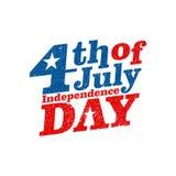 4η Ιουλίου Ευτυχές διάνυσμα ημέρας της ανεξαρτησίας Τέταρτο του σχεδίου χαιρετισμού Ιουλίου Στοκ Εικόνες