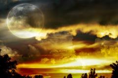 ηλιοφάνεια στην πόλη στοκ εικόνα