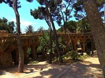 Η Ισπανία, πόλη της Βαρκελώνης, πάρκο Guell Στοκ φωτογραφία με δικαίωμα ελεύθερης χρήσης