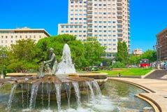 Η Ισπανία Square Plaza de Espana είναι ένα μεγάλο τετράγωνο, ένα δημοφιλές tou Στοκ εικόνες με δικαίωμα ελεύθερης χρήσης