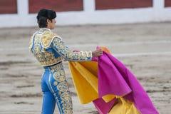 Η ισπανική ταυρομαχία Perera αγγέλου του Miguel ταυρομάχων με το θόριο στοκ εικόνα με δικαίωμα ελεύθερης χρήσης