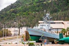 Η ισραηλινή στρατιωτική βάρκα στο θαλάσσιο μουσείο στη Χάιφα στοκ φωτογραφία