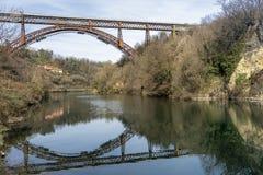 Η ιστορική γέφυρα Paderno, Ιταλία στοκ εικόνες με δικαίωμα ελεύθερης χρήσης