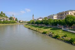 Η ιστορική πόλη του Σάλτζμπουργκ, Αυστρία Στοκ φωτογραφία με δικαίωμα ελεύθερης χρήσης