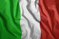Η ιταλική σημαία πετά στον αέρα Ζωηρόχρωμος, εθνική σημαία της Ιταλίας Πατριωτισμός, ένα πατριωτικό σύμβολο απεικόνιση αποθεμάτων