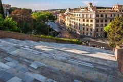 Η Ιταλία, Ρώμη, κατεβαίνει στο Κάπιτολ Χιλλ. Στοκ φωτογραφίες με δικαίωμα ελεύθερης χρήσης