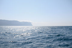 Ηλιόλουστη άποψη της Μαύρης Θάλασσας Κριμαία Στοκ φωτογραφίες με δικαίωμα ελεύθερης χρήσης