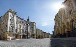 Ηλιόλουστη ημέρα οδών Sity Στοκ εικόνα με δικαίωμα ελεύθερης χρήσης