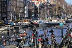 Ηλιόλουστη ημέρα στο Άμστερνταμ Στοκ Εικόνα