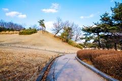 Ηλιόλουστη ημέρα στο ολυμπιακό πάρκο Σεούλ στοκ φωτογραφίες