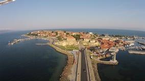 Ηλιόλουστη ημέρα 2014 της Βουλγαρίας Nessebar άποψης ματιών Byrd Στοκ Φωτογραφίες