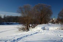 Ηλιόλουστη ημέρα τον Ιανουάριο Στοκ φωτογραφίες με δικαίωμα ελεύθερης χρήσης