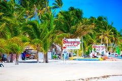 Ηλιόλουστη παραλία σε Punta Cana Στοκ εικόνα με δικαίωμα ελεύθερης χρήσης