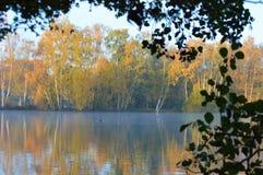 ηλιόλουστη όψη λιμνών ημέρας φθινοπώρου Στοκ φωτογραφία με δικαίωμα ελεύθερης χρήσης