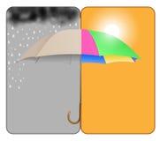 Ηλιόλουστος-βροχερός Στοκ εικόνα με δικαίωμα ελεύθερης χρήσης