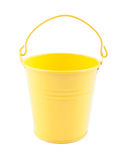 Ηλιόλουστος κίτρινος κάδος παιχνιδιών Στοκ Φωτογραφία