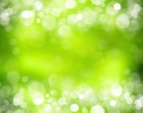Ηλιόλουστο αφηρημένο πράσινο υπόβαθρο φύσης Στοκ Φωτογραφία