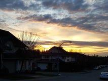 Ηλιόλουστο δευτερεύον ηλιοβασίλεμα Στοκ φωτογραφία με δικαίωμα ελεύθερης χρήσης