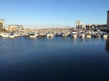 Ηλιόλουστο λιμάνι Στοκ εικόνες με δικαίωμα ελεύθερης χρήσης