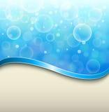 Ηλιόλουστο μπλε υπόβαθρο Στοκ Εικόνες