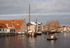 Ηλιόλουστο ολλανδικό τοπίο Στοκ Εικόνες