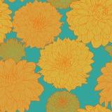 Ηλιόλουστο σχέδιο asters άνοιξη μετα-Impressionism διανυσματική απεικόνιση